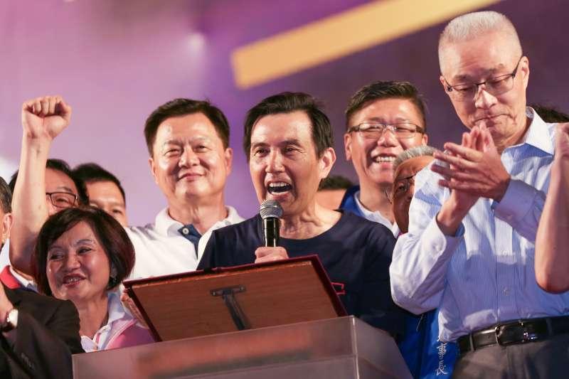 20190908-前總統馬英九8日出席韓國瑜新北市造勢活動。(簡必丞攝)