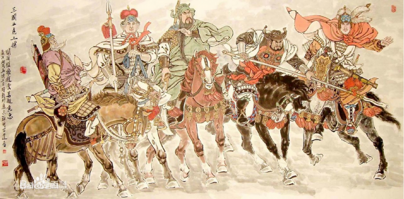 在五虎將中,趙雲的官階比不上其他4位。(圖/百度百科)