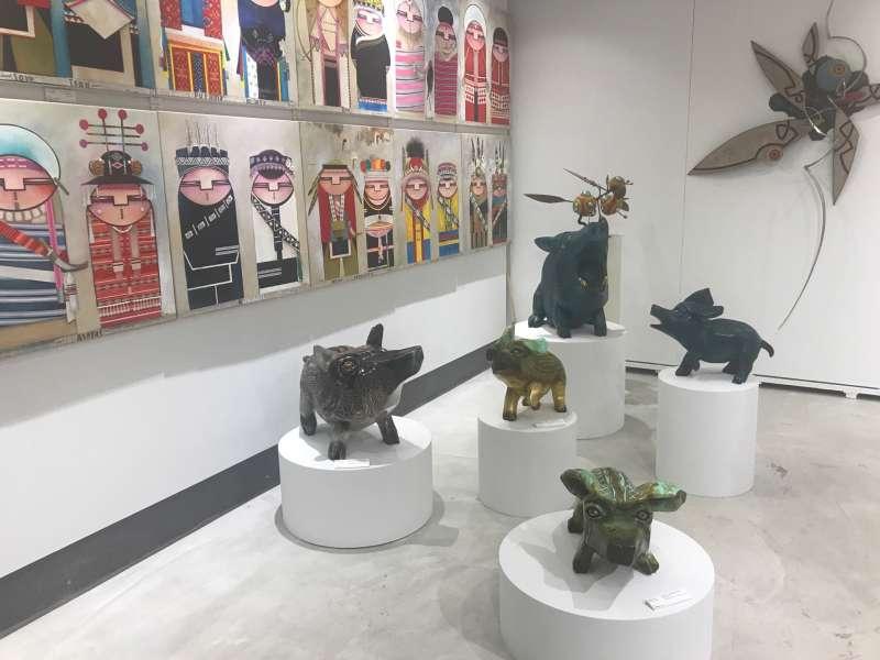 新創社創中心有原住民藝術創作發表。(圖/鄭夢華攝)