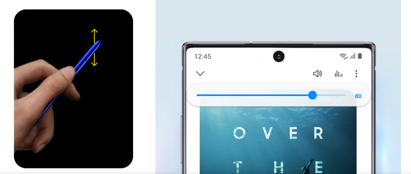 Samsung Note10+ 配有 S pen,功能多元。(圖/取自Samsung)