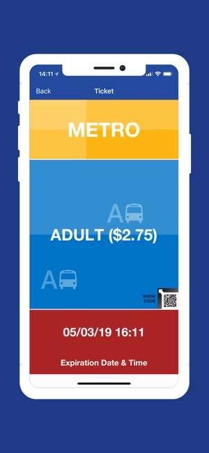 Transit Go的出示介面。(圖/取自Apple App Store)