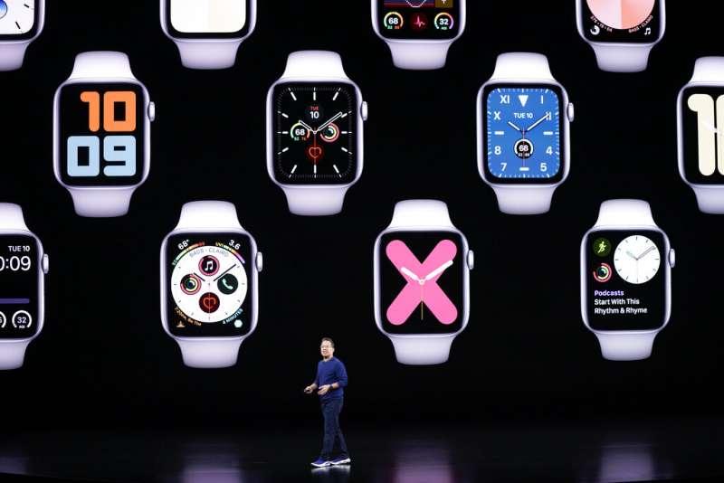 蘋果的新一代Apple Watch。(美聯社)