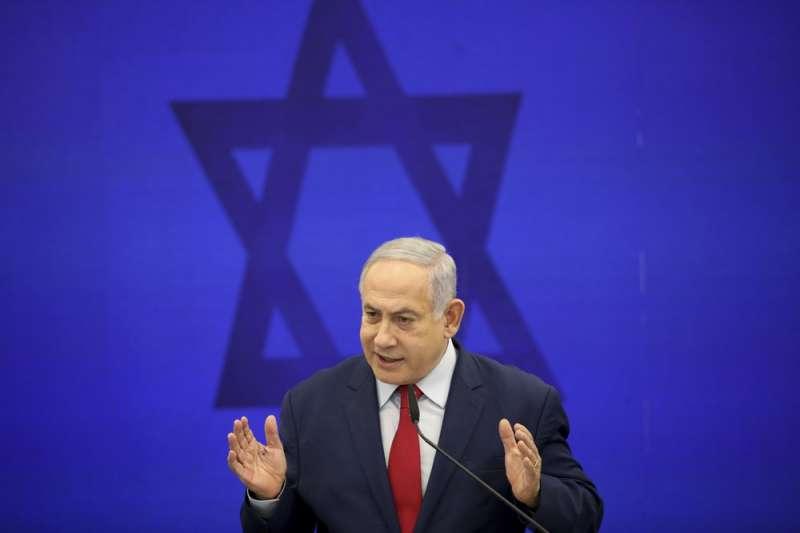 以色列總理納坦雅胡(Benjamin Netanyahu)聲稱若選上總理將併吞約旦河西岸,恐再次引發以巴衝突。(AP)