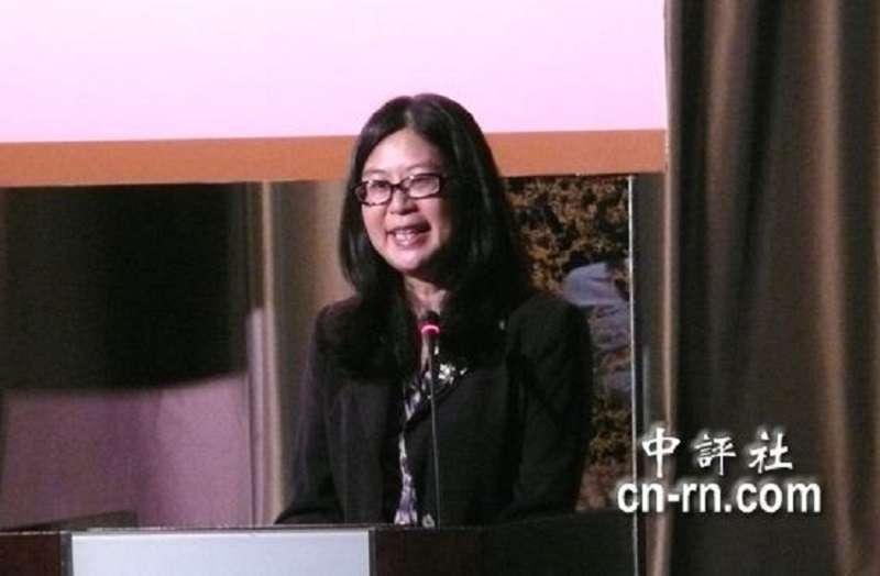 前陸委會主委賴幸媛2010年在港台官員前演講,以「十月圍城」開題,強調香港是國民革命的發源地。(資料照,中評社)