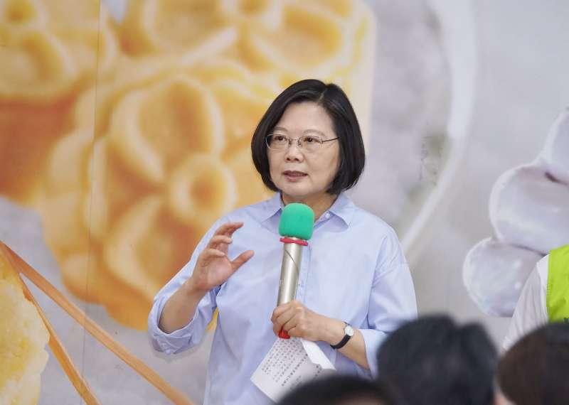20190912-總統蔡英文參訪「手信坊創意和菓子文化館」。(盧逸峰攝)