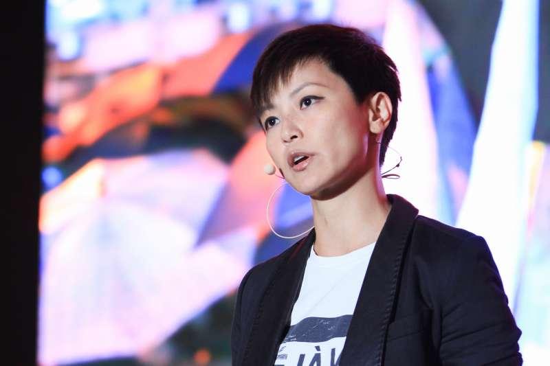 20190913-「2019年奧斯陸自由論壇-台灣」13日舉行,何韻詩主講「民主與團結的對談」。(蔡親傑攝)