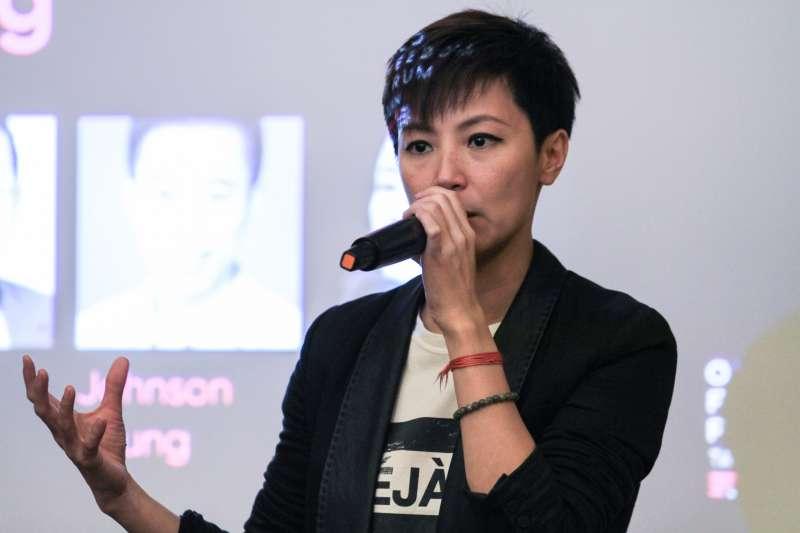 20190913-「2019年奧斯陸自由論壇-台灣」13日舉行,何韻詩與現場參與人對談。(蔡親傑攝)