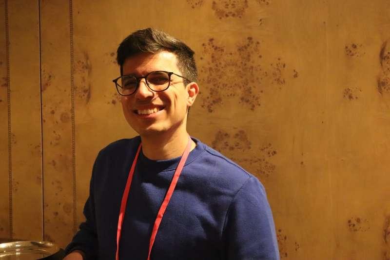 委內瑞拉喜劇演員、「雙極水豚」諷刺新聞網站內容製作羅丹(Jesús Roldán)9月13日出席台北「奧斯陸自由論壇」。(蔡娪嫣攝)