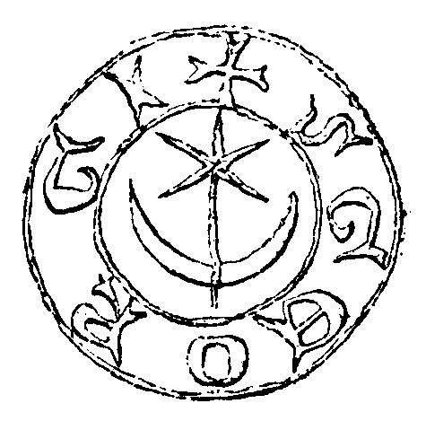 波蘭的Leliwa徽章,中為星月符號。(作者提供,取自Franciszek Piekosiński)