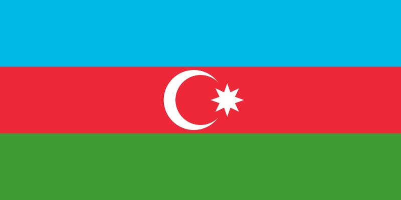 亞塞拜然國旗。(作者提供,取自維基百科)