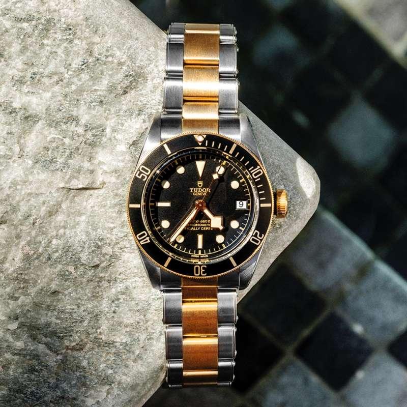 這種半金錶一直被台灣人貼上老氣與俗氣的標籤。(圖/取自Tudor臉書粉絲專頁)