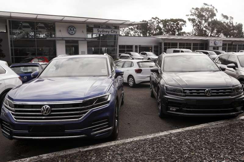 德國福斯汽車同意以1億2700萬澳元(約新台幣27億元),與多起集體訴訟案的澳洲車主和解。(圖/AP)