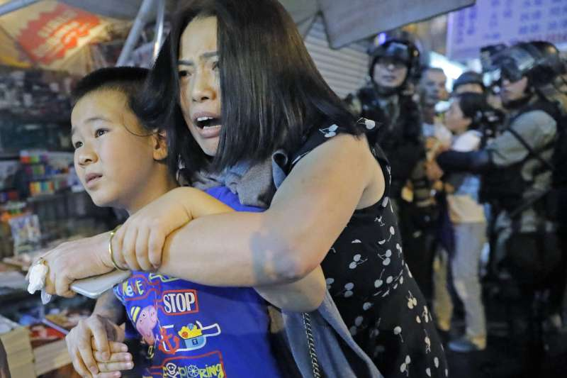 2019年9月,香港反送中衝突持續升級(AP)