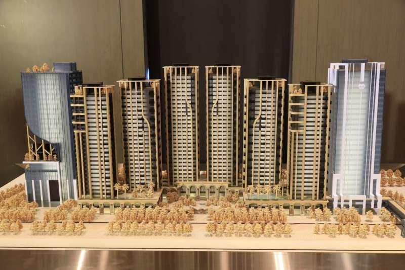 世界明珠建築外觀模型(圖/甲山林 提供)