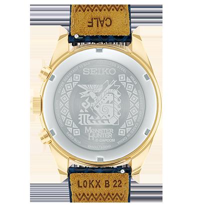 錶背刻有圖騰與其他產品資訊。(圖/取自Seiko日本官網)