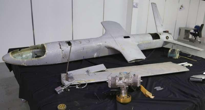 胡塞組織過去也經常使用無人機對沙烏地阿拉伯發動攻擊,圖為胡塞組織所展示的無人機。(美聯社)