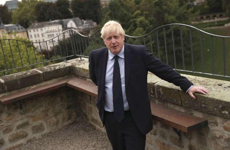 英國首相強森(Boris Johnson)。(AP)