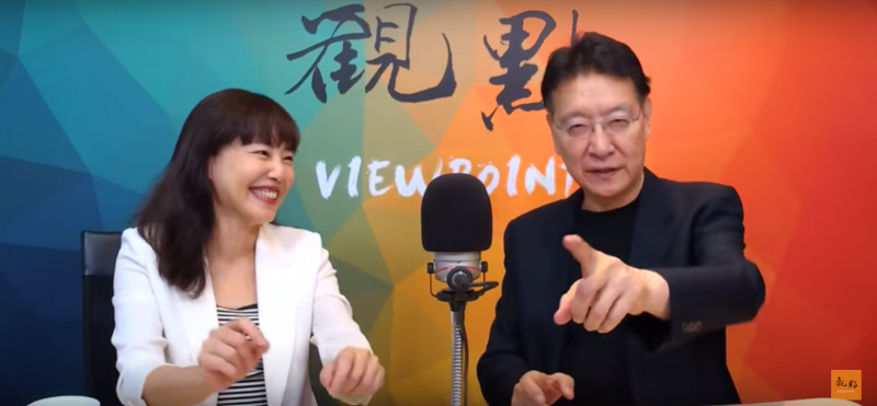 20190918-趙少康在《觀點》節目中表示,「你們那31人(指登報的國民黨大老)裡面,有些人拿了人家(郭)多少錢!」。(擷取自觀點YouTube頻道)