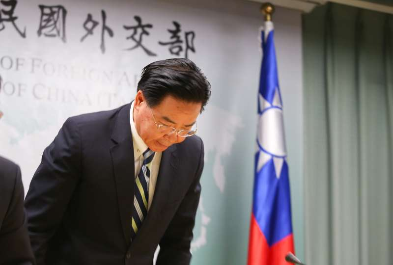 20190920-外交部長吳釗燮20日針對吉里巴斯與我國斷交召開記者會說明。(顏麟宇攝)