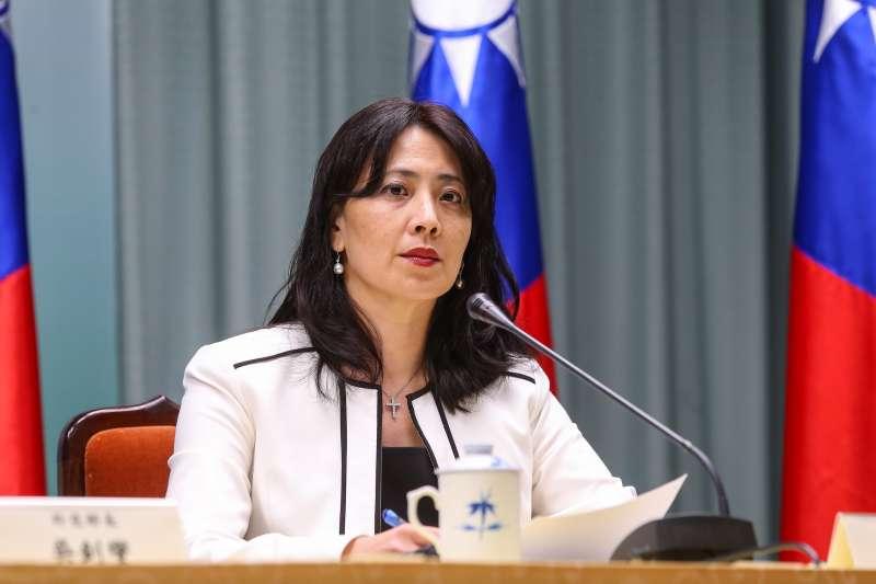 20190920-外交部發言人歐江安20日出席吉里巴斯斷交記者會。(顏麟宇攝)