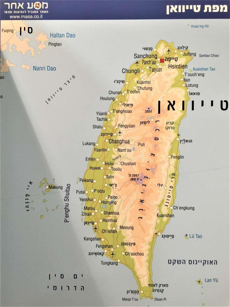 希伯來文的台灣地圖(簡恒宇攝)