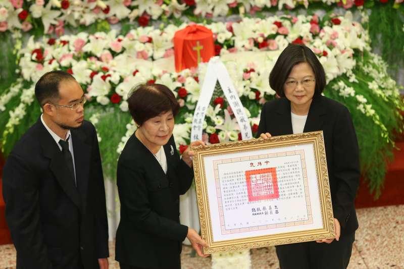 20190921-總統蔡英文21日出席前立委謝聰敏追思禮拜。(顏麟宇攝)