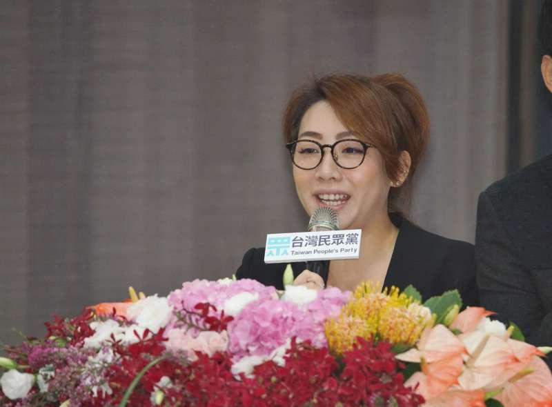 20190922-台灣民眾黨發言人林珍羽。(盧逸峰攝)