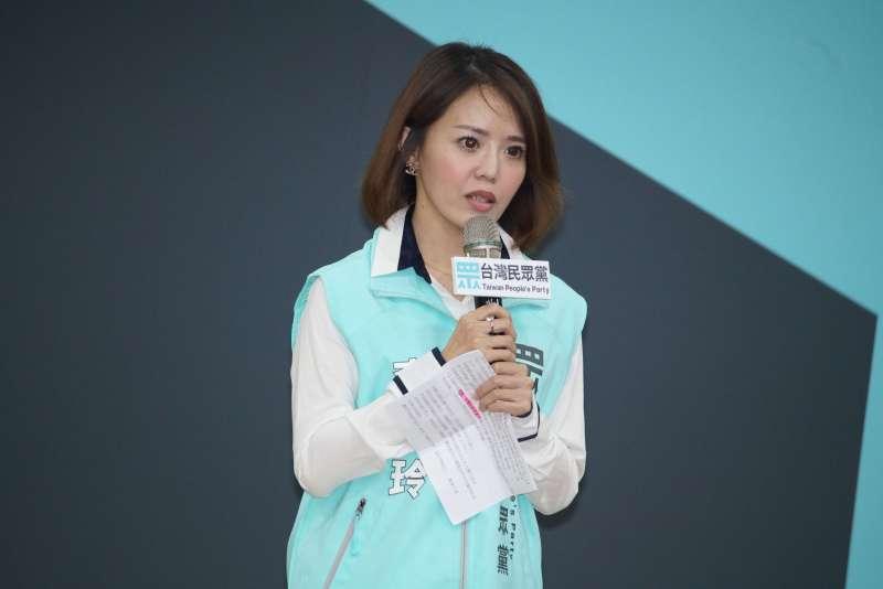 20190922-台灣民眾黨立法委員提名記者會,立委參選人李佳玲發言。(盧逸峰攝)