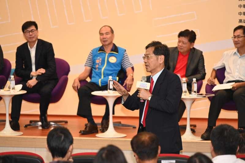 光陽執行長柯俊斌於會中展現與第一線機車行站在同一陣線之態度。 (圖/光陽機車)