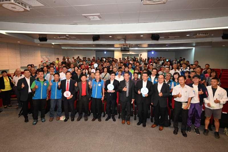 行政院副院長陳其邁出席9月22日機車升級轉型說明會高雄場。 (圖/光陽機車)