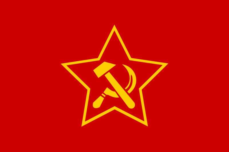 德國共產黨黨旗。(取自維基百科)