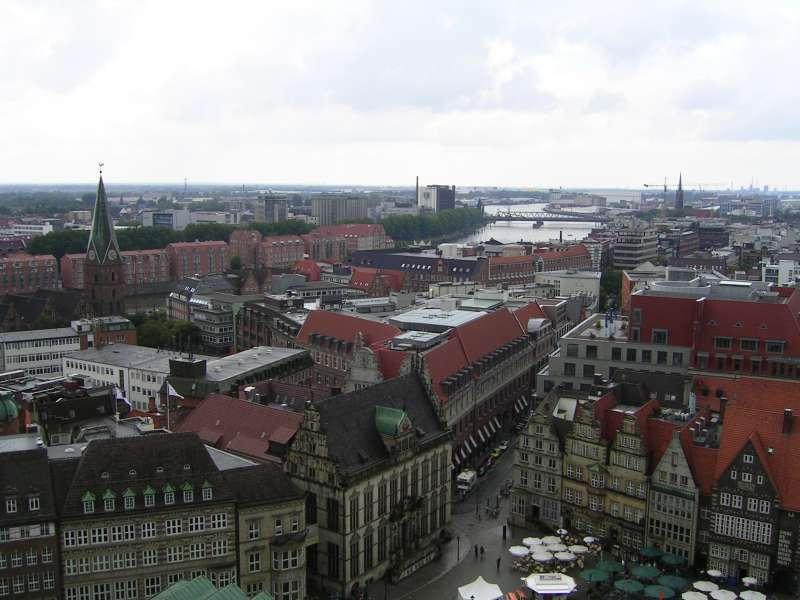 德國不來梅(Bremen)街景。(取自維基百科)