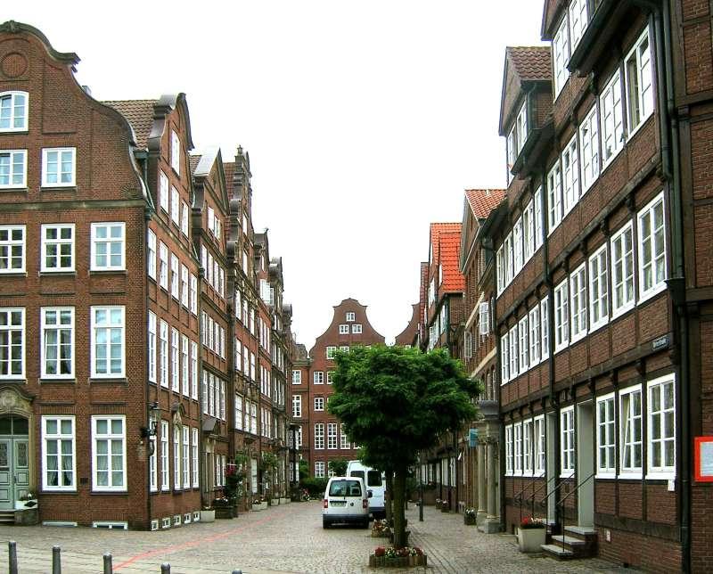 漢堡的大紐馬克特(Grossneumarkt)街景。(取自維基百科)