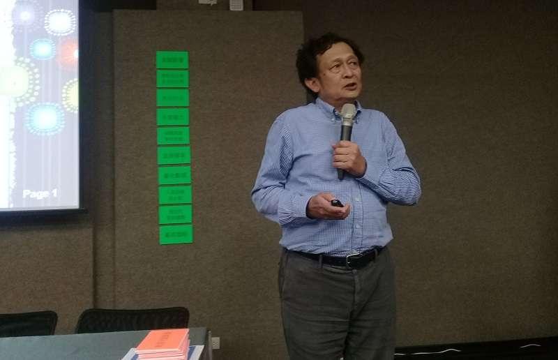 台大地質系教授陳文山提醒,台灣是可能發生規模7到8大地震的地區,核電廠又臨近三腳斷層,需要有避險的準備。(朱淑娟提供)