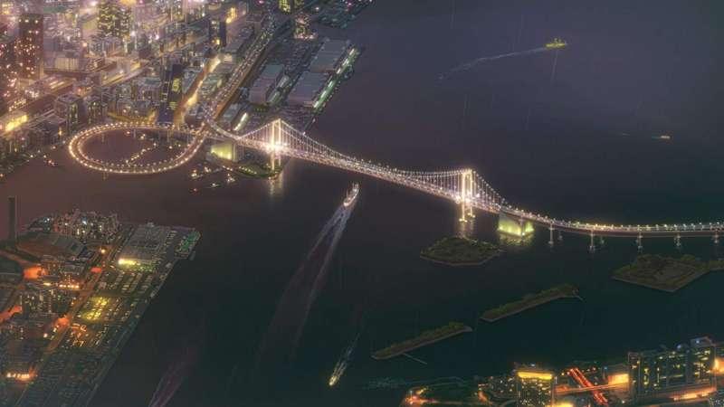 電影中出現多次東京台場彩虹橋,橋面高52公尺。Floods Maps