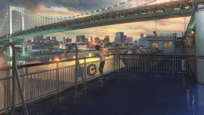 電影開頭男主角森嶋帆高搭乘東海汽船抵達東京,上為彩虹橋。Floods Maps