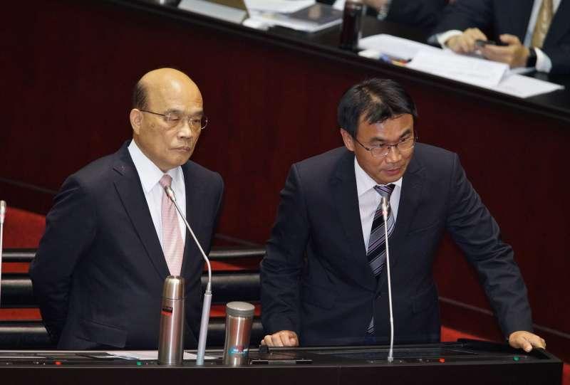 20190924-立法院院會,行政院長蘇貞昌、農委會主委陳吉仲備詢。(盧逸峰攝)