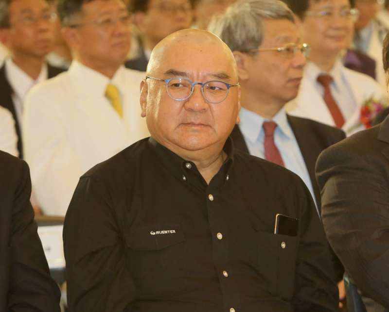 對於獨子尹崇堯被南山人壽董事會推舉為代理董事長,尹衍樑表示「樂觀其成」。(柯承惠攝)