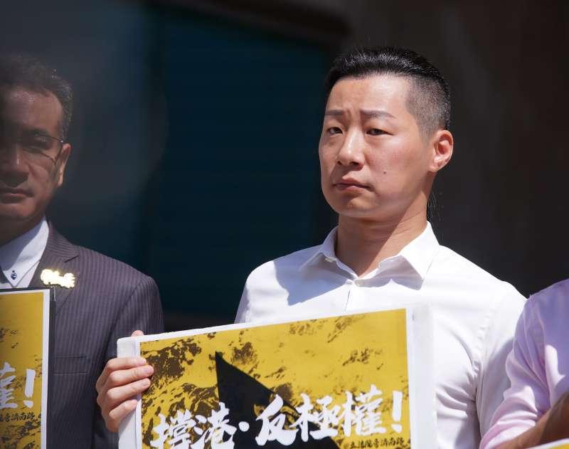 20190925-立委林昶佐出席「撐香港、反極權,929全民站出來」記者會。(盧逸峰攝)