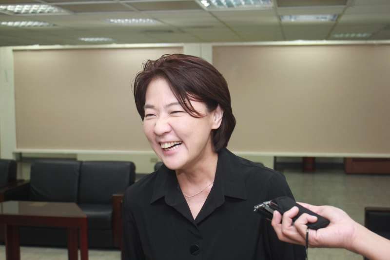 台北市議員黃珊珊可望接任台北市副市長,她今天接受媒體訪問。(方炳超攝)