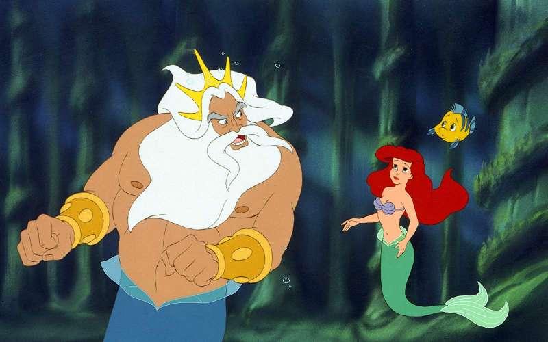 《小美人魚》川頓國王一開始是專橫的父親,最後放下心結,與女兒和解(圖/IMDb)