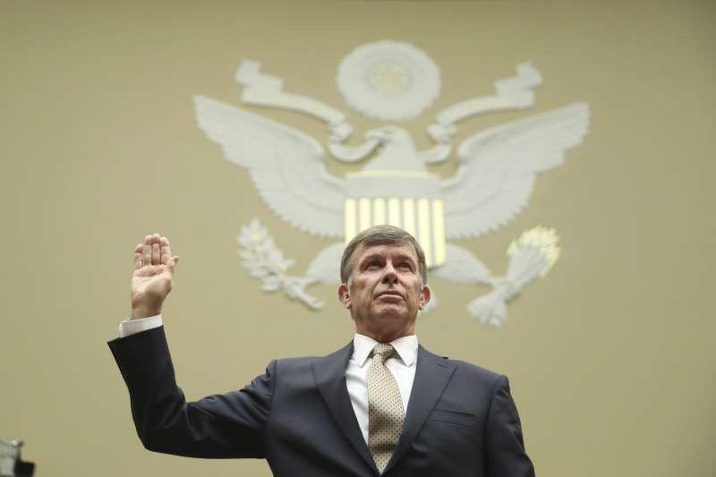 烏克蘭門醜聞:美國代理國家情報總監馬奎爾出席聯邦眾議院情報委員會聽證會(AP)
