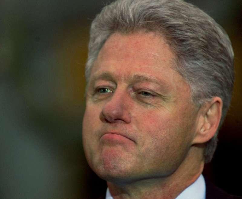 1998年遭到美國聯邦眾議院彈劾的時任美國總統柯林頓(AP)