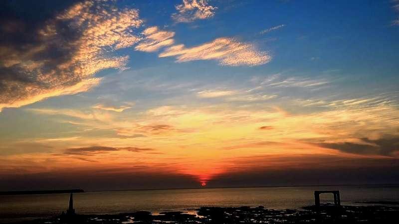 澎湖的西嶼落霞(圖/截自Youtube)