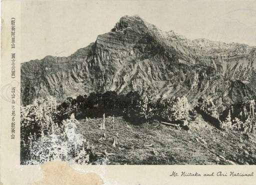 日治時期所繪製的新高山(玉山)明信片(圖/日治時期繪葉書)