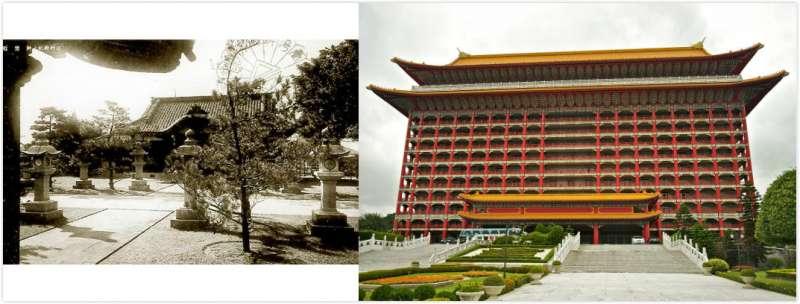 現今的圓山大飯店原址為台灣神社(圖/維基百科)