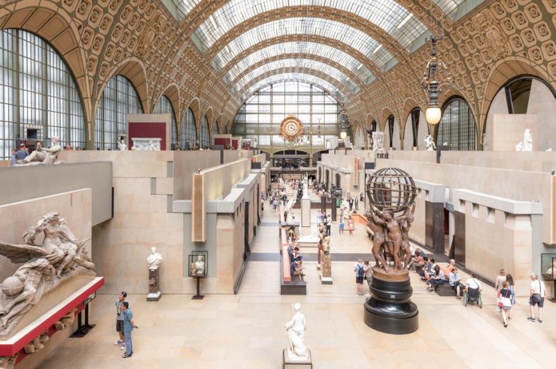 前身是火車站的奧賽美術館。(圖/INSIDR)