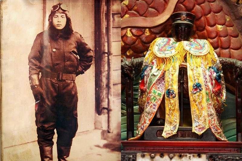 二戰時期的日本海軍杉浦茂峰是如何成為台灣神明的呢?(圖/海尾鎮安堂.飛虎將軍@facebook)