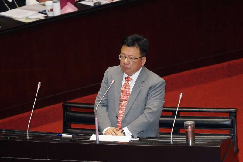 20191001-立委李俊俋於院會質詢。(盧逸峰攝)