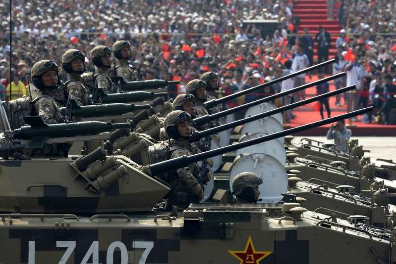 2019十一國慶大閱兵、解放軍。(美聯社)